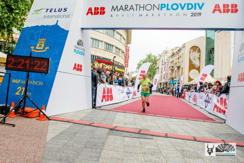 LZ1ZF at the Finish of Plovdiv Marathon 5th May 2019