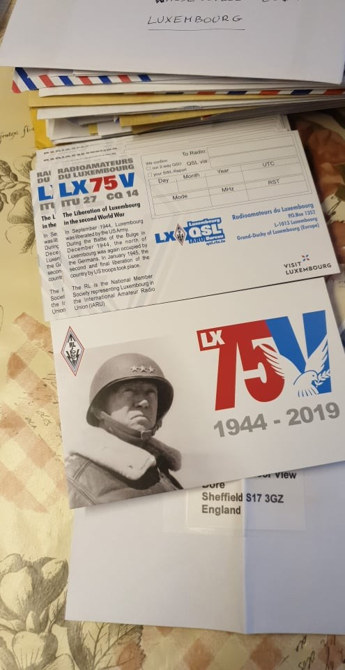 the special Qsl card LX75V arrived today, manager LX1JH has started answering all direct inquiries. Many tnx to him and LX2A Phil , 73 de Mich